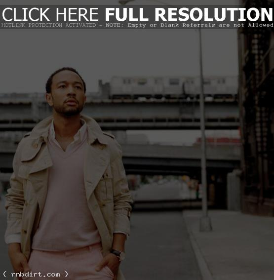 John Legend wearing pink