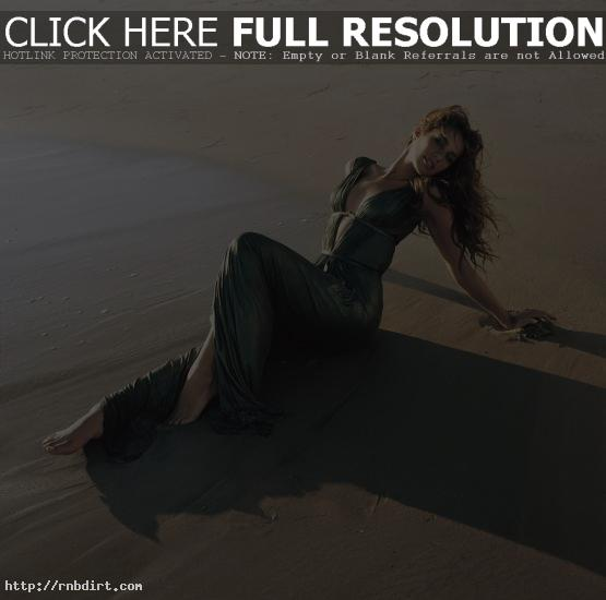 Leona Lewis in the sand