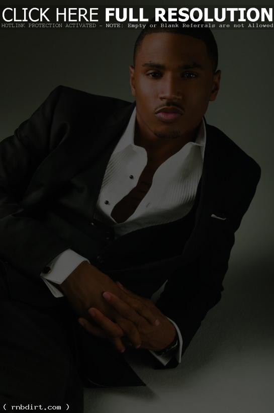 Trey Songz in an unbuttoned shirt